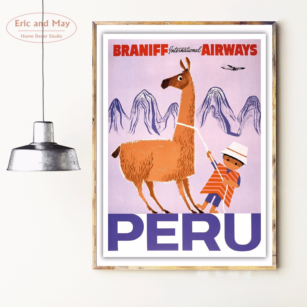 Peru Travelling Quote Canvas Art Print Poster Wall Pictures For Bed Room Decoration Home Decor No Frame Picture