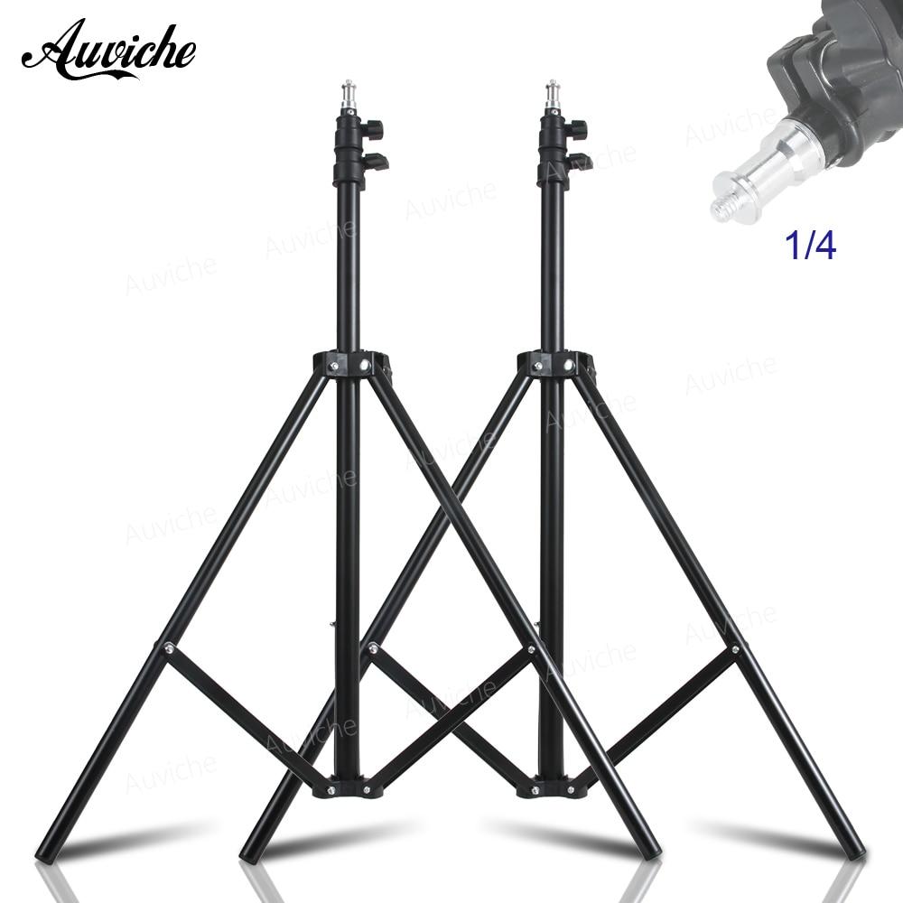 200cm Aluminum alloy Light Stand 1/4 Screw Head photography Stand for Godox Yongnuo Studio flash LED Video light стойка студийная kupo aluminum studio stand 360m