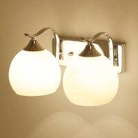 HGhomeart Modern Led Wall Lamp for The Bedroom 110V-220V E27 Bed Lamps Luminaria Crystal Bedroom Wall Lighting Bedside Lamp