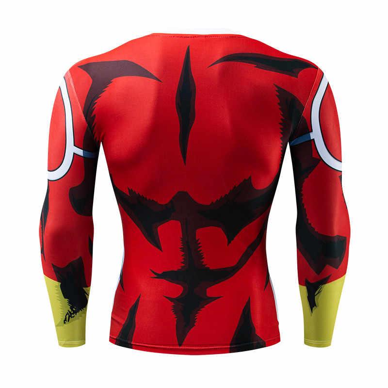 2019 Новый Для мужчин модная футболка Dragon Ball Z Saiyan Goku плотно облегающие длинные рукава мужское трико футболка X целевой Прямая поставка