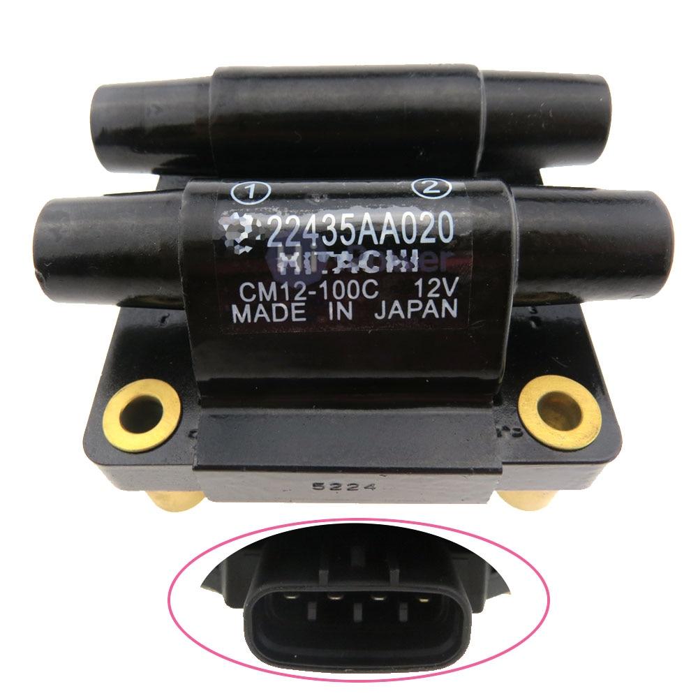 22435-AA020 22435AA020 CM12-100D الإشعال التلقائي لفائف حزمة لسوبارو فورستر امبريزا ليجاسي 2.0L CM12-100C CM12-100D الأصلي