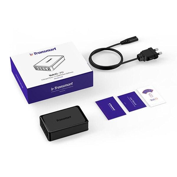 Tronsmart 5 портов USB PD зарядное устройство U5P быстрое зарядное устройство 60 Вт USB-C питания быстрое зарядное устройство для samsung Galaxy S9, S9 Plus, iphone x - Тип штекера: Европейский Союз (ЕС)
