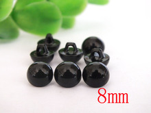 wholesale 8mm black color Hand sewing buttons safety eyes 200pcs lot
