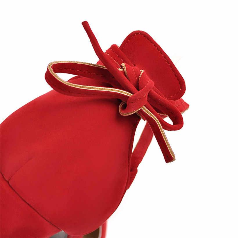 מקרית נשים משאבות צאן 7cm גבוהה עבה בלוק העקב מרובע הבוהן משרד המפלגה סקסי צלב רגל גברת קשורות ד 'אורסיי קיץ נעליים חלולות