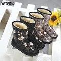 Зимние ботинки YATFIML для девочек  зимние ботинки с мехом для девочек