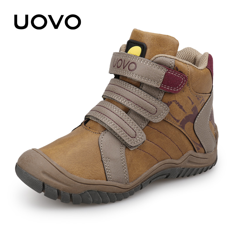 Uovo New Arrival Mid-calf Boys Shoes Fashion Kids Sport Shoes Brand Outdoor Children Casual Sneakers For Boys Size 26#-36#