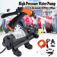 DC 12V 160PSI 100W Electric Water Pump High Pressure Diaphragm Self Priming Water Pump Sprayer Car Wash 12V 100W