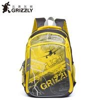 GRIZZLY children school bags waterproof orthopedic backpacks for boys school backpack primary grade 1/4 mochilas infantil