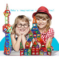 100 ШТ. Строительные Блоки Магнитные Дизайнер Архитектура Игрушки Для Детей Магнитного Строительные Блоки