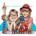 100PCS Building Blocks Magnetic construction magnetic Designer Toys For Kids model build kits Magnetic Building  Blocks