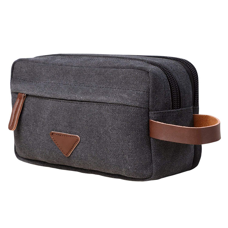 Us 10 31 57 Off Men Travel Canvas Shaving Kits Cosmetic Makeup Organizer Women Toiletry Bag With Double Compartments Kosmetyczka Beauty Case In