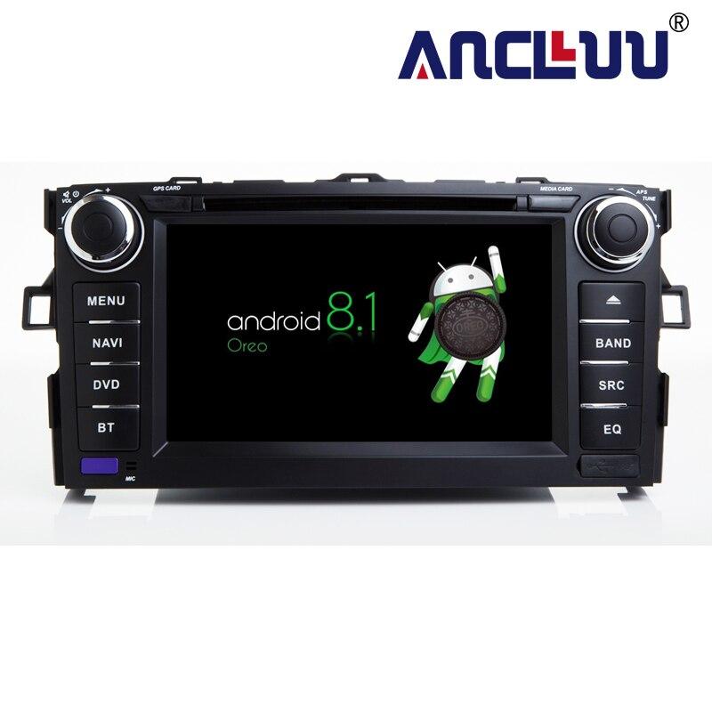 2g RAM Android 8.1 Lecteur dvd de Voiture Pour Toyota Auris 2006 2007 2008 2009 2010 2011 raido gps navigation voiture stéréo