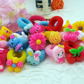 6 Pcs Lovely Cartoon Hair Bands Fashion Baby Girls Unique Hair Care Hair Rings Rope