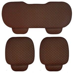 Image 3 - 3 pcs 자동차 좌석 쿠션 자동차 패션 자동차 좌석 커버 자동차 스타일링 자동차 액세서리 pu 가죽 제조