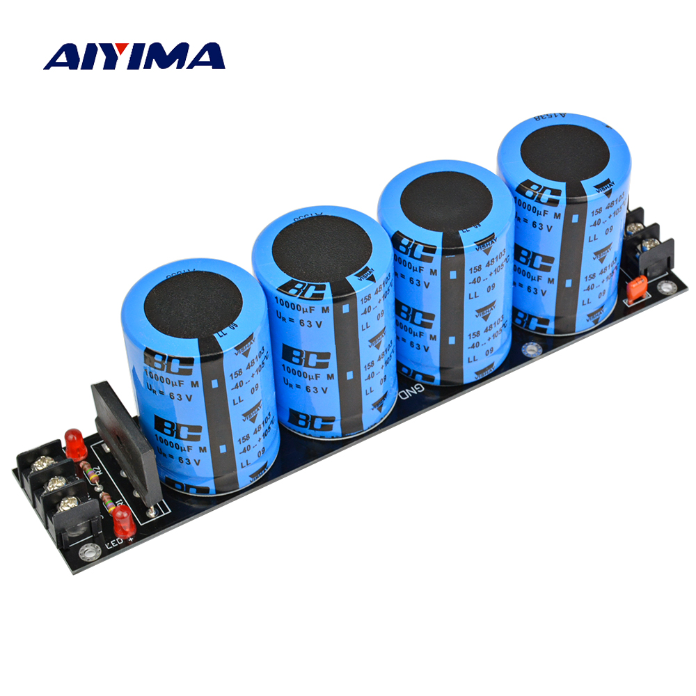 Aiyima Assembled Amplifier Rectifier board Supply Power Board High Power Rectifier Filter Power Supply Board 10000uf 63V high power amplifier single bridgerectifier filtering power supply board 25a