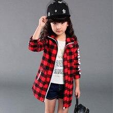 2016 mode filles vestes manteaux Plaids Hoodies fille veste manteau enfants enfants Trench manteaux princesse fille veste