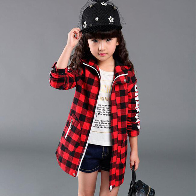 Aliexpress.com : Buy 2016 Fashion Girls Jackets Coats Plaids ...