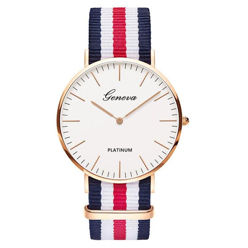 Luxury Brand Nylon Quartz Watch Men Women Ladies Fashion Bracelet Wrist Watch Wristwatches Clock Relogio Masculino Feminino