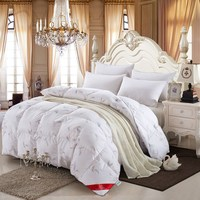 King Size 220x240cm 4kg Goose Down Winter Quilt Comforter Blanket Duvet Filling Feather Printed 100% Cotton Outer Cover