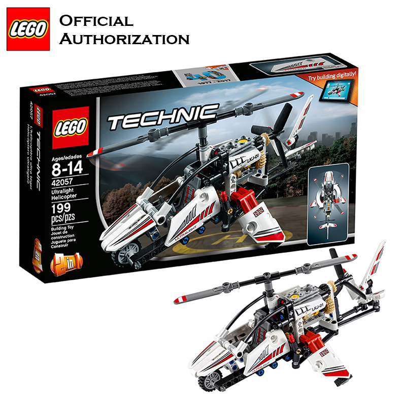 2017 LEGO Building Blocks Plane Toy Technic Series Compatible Building Educational Blocks Ultralight Helicopter Model 42057 Gift 2017 new building blocks car toy juniors series compatible lego building educational easy to build blocks lego gift toy