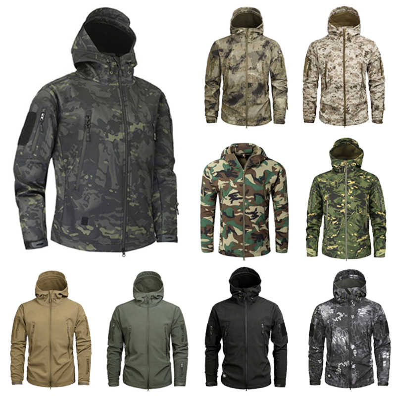 Outdoor Sport Softshell TAD Tactische Jas Sets Mannen Camouflage Jacht Kleding Militaire Jassen Voor Camping Wandelen Capuchon