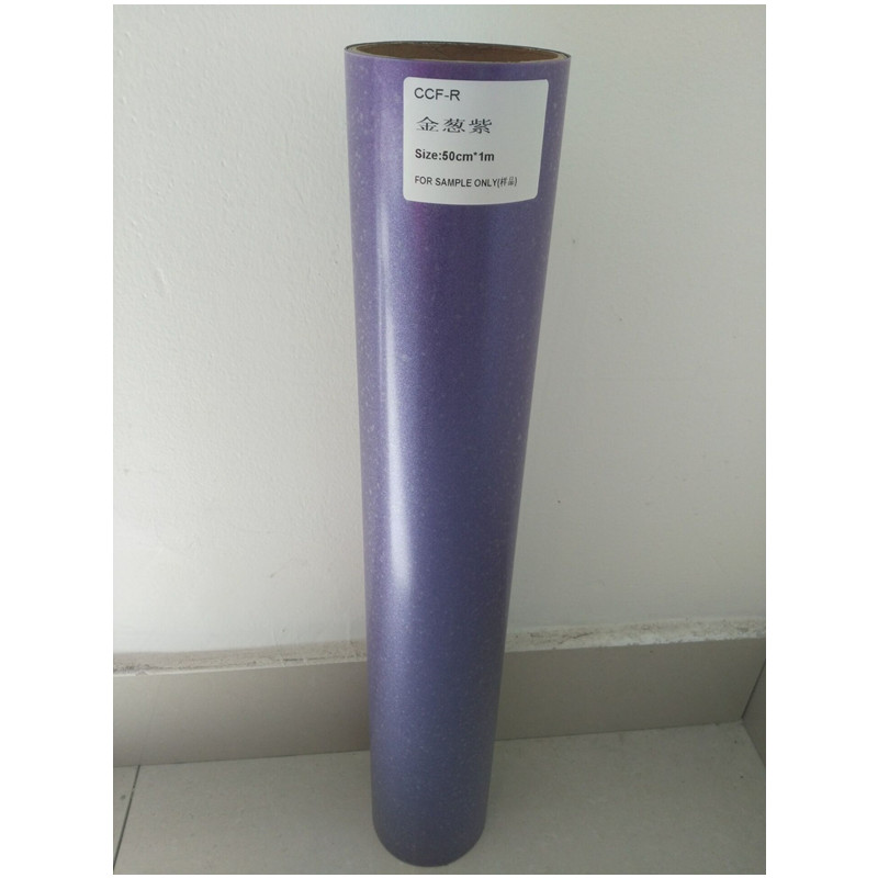 (50cm*1M) Glitter Purple Color Cuttable Pu Flex Vinyl A4 Size 210mm*297mm (20