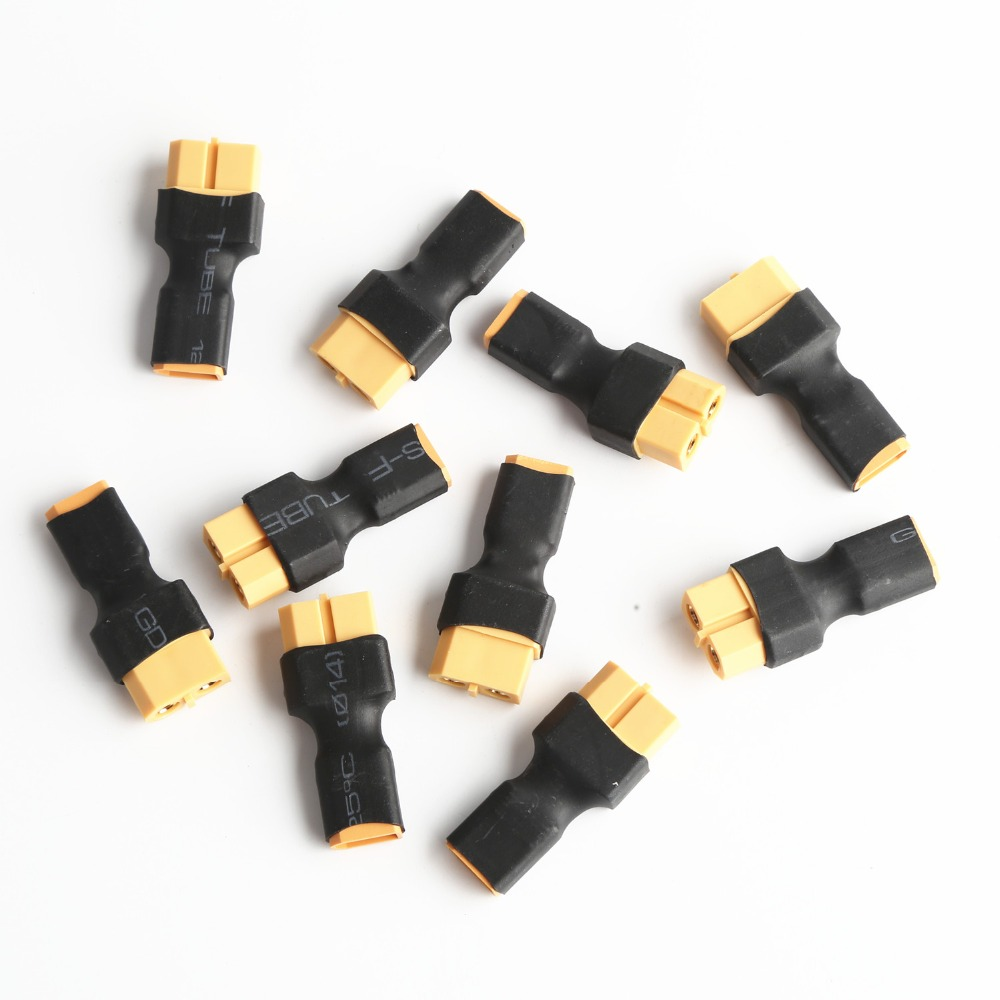 High Quality 10PCS XT30 male to XT60 Female Adapter for Multi Rotor Battery Connector
