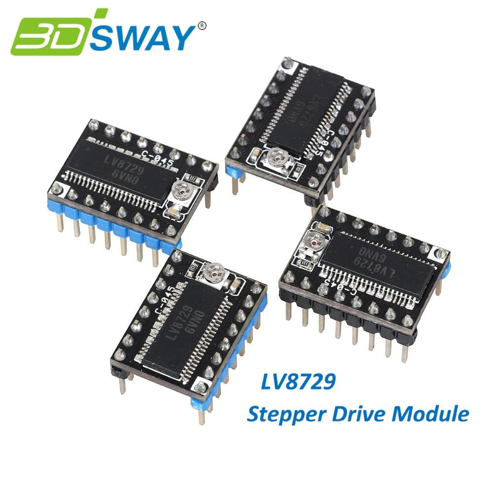 3DSWAY 3D Printer Parts 4pcs lot MKS LV8729 Stepper Motor Driver 4 layer PCB Ultra Quiet