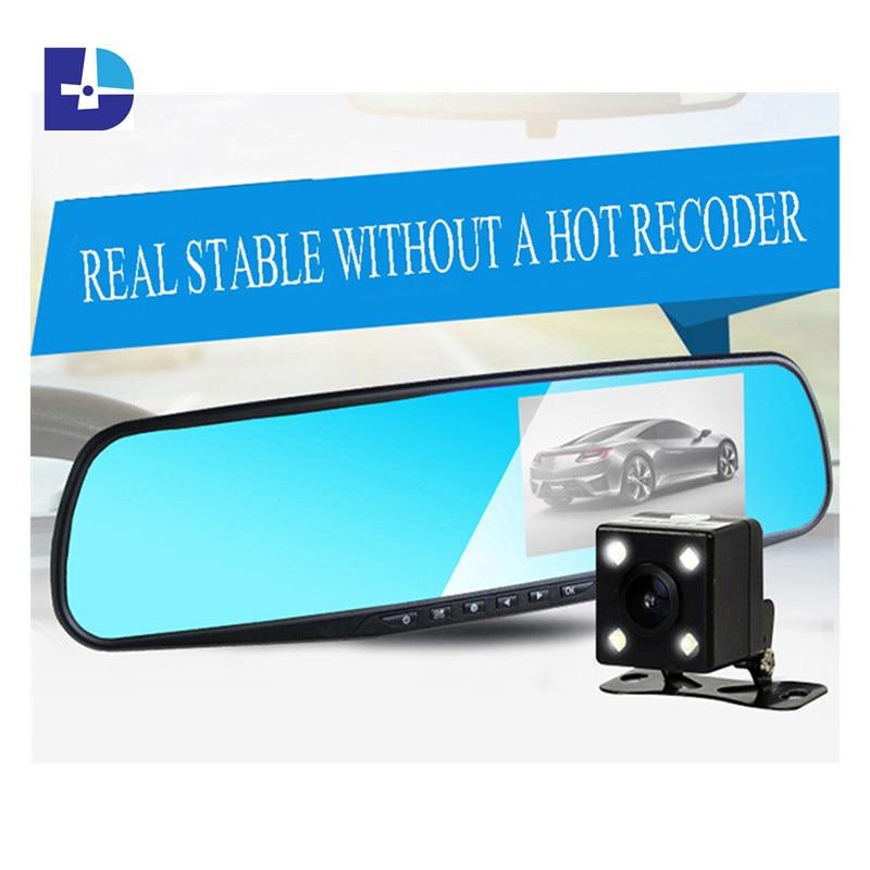 Car Rearview Mirror Camera Video Recorder Car DVR Dual lens Full HD 1080P font b Camcorder