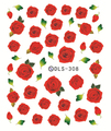 DIY Water Transfer Foils Nail Art Sticker Fashion Nails Harajuku Deep Red Rose Flower Decals Minx Cute Nail Decorations