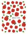 Folhas de Transferência De Água DIY Nail Art Adesivo de Unhas de Moda Harajuku Subiu Vermelho Escuro Flor Decalques Minx Prego Bonito Decorações
