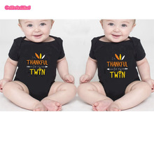 Culbutomind Twin Thanksgiving Outfits, I'm THANKFUL For My TWIN Set of 2 Baby Body suitsTwins Clothes Outfits