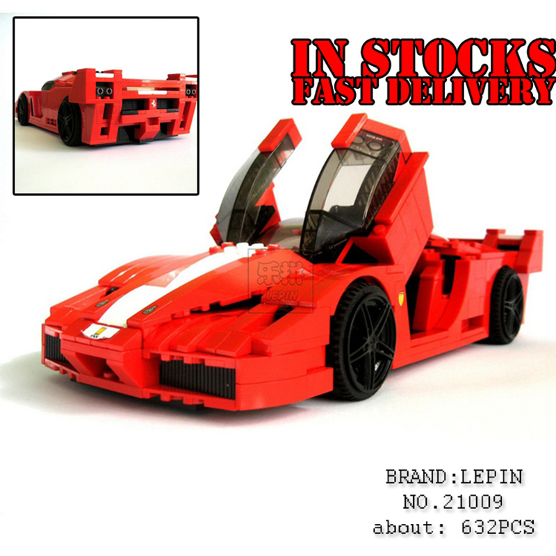 Lepin 21009 Genuine Creative Series The Out of Print FXX 1:17 Racing Car F1 Car Set Building Blocks Bricks Toys hot racing italy horse logo fxx k