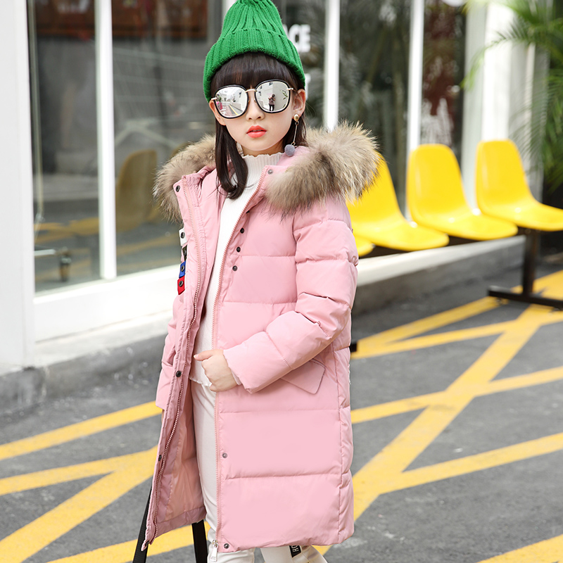 Fashion winter jacket Girl down Jackets Coats warm Kids baby duck feather Down jacket Children Outerwears cold winter-30degree new winter girls boys down jackets baby kids long sections down coats thick duck down warm jacket children outerwears 30degree