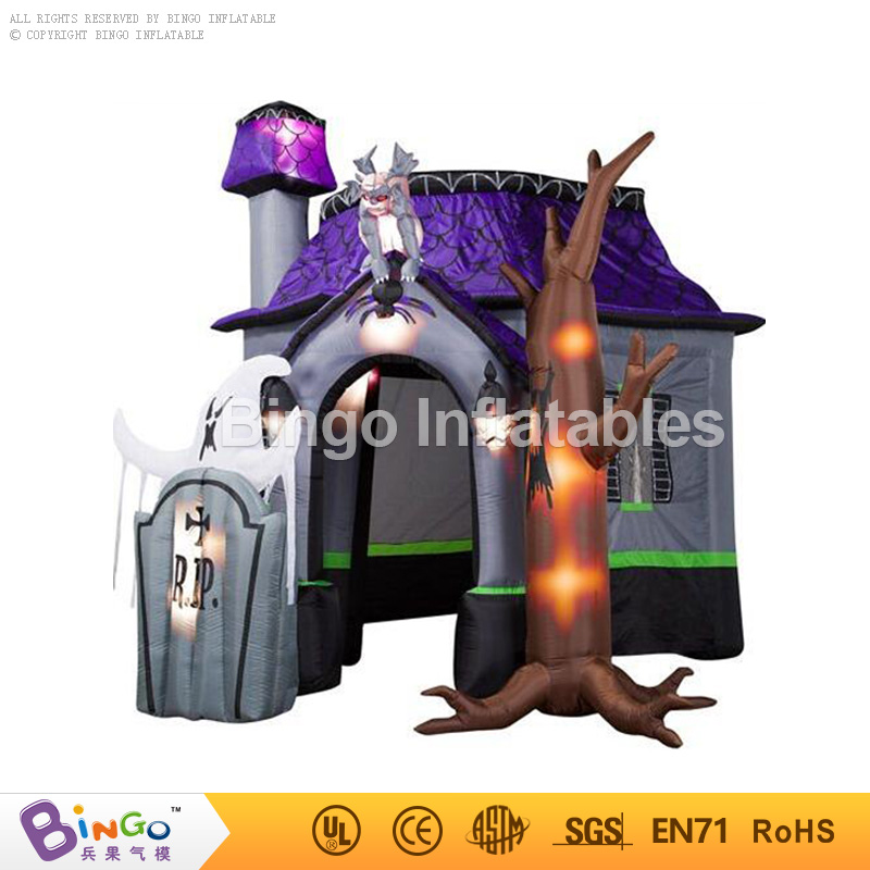 4M 13ft. halloween inflatable Haunted House with led lighting inflatable for halloween decoration Bingo inflatablesBG-A1143 toy interesting haunted house props for children playing inflatable games