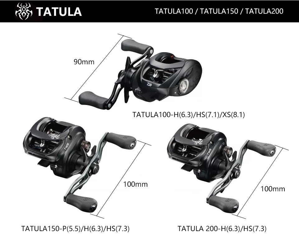 2019 DAIWA TATULA 100 150 200 Fishing reel Baitcasting Reel MAX DRAG 5kg/6kg low profile fishing reel Casting Reel 7BB + 1RB 9