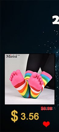 Colorful woman pure cotton comfortable toe socks  (1)