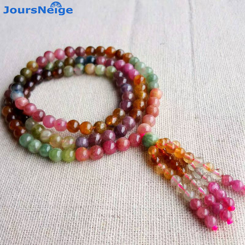 High Quality Fine Old Mineral Material Tourmaline Natural Bracelets for Women Women Beauty Crystal Bracelet Multilayer Jewelry joursneige natural tourmaline bracelets crystal necklace for women women simple and fresh crystal bracelet multilayer jewelry