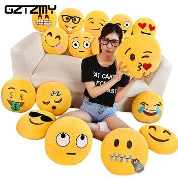 Gztzmy Emoji Yastık Yastık Dekorasyon Dekoratif Yastıklar Gülen Yüz