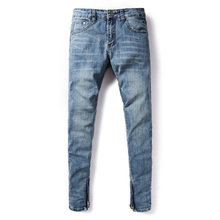 American Streetwear Men Jeans Blue Color Elastic Skinny Jeans homme Denim Casual Pants hombre Fashion Hip Hop Jeans Men envmenst brand men korean jeans elastic waist drawstring men casual fashion slim skinny warm denim pants big size hip hop
