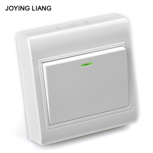 JOYING LIANG 86 Wall Surface-type Rocker Switch Outlet PC Material White 1 Gang/ 2 Way Switch Socket