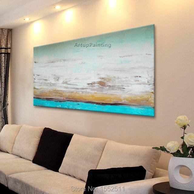 Nuages Bord De Mer Peinture Acrylique Décoration De La Maison