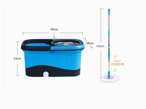 Image 2 - Magic Mop With Bucket Easy Microfiber Mop Rotating Mop  Household Floor Cleaning Set With 4 mop heads