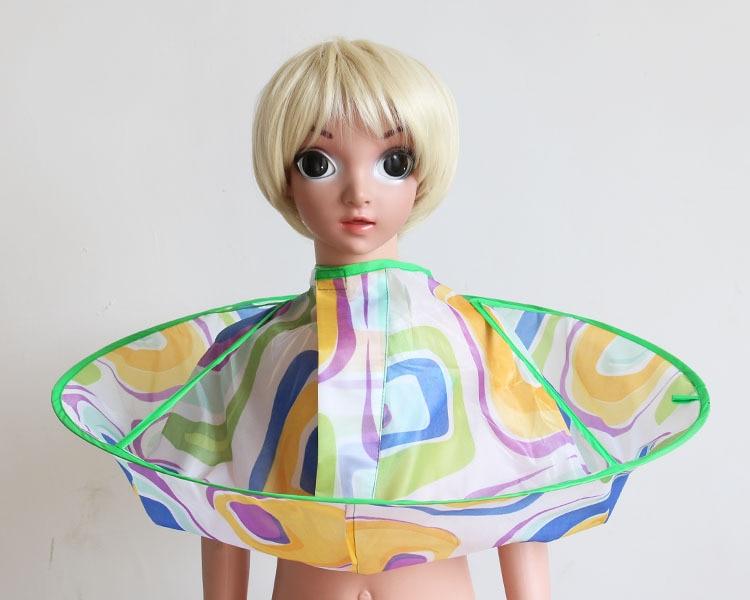 Плащ для стрижки волос накидка-зонтик салон водонепроницаемый детский домашний парикмахерский для детского парикмахера дизайн платья парикмахеров - Цвет: Maze
