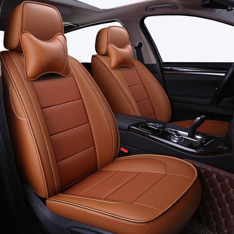 Automovil cuoio copertura di sede dell'automobile per benz mercedes w110 w114 w115 w123 t123 w124 t124 w210 c e classe w164 stile accessori auto