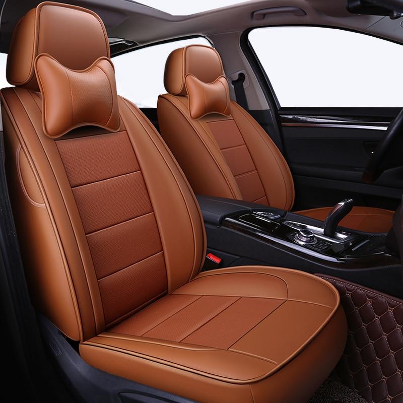Couro tampa de assento do carro para benz mercedes w110 automovil w114 w115 t124 t123 w123 w124 w210 c e classe w164 estilo acessórios do carro