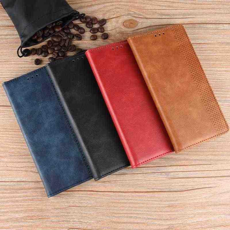 MAKEULIKE Flip Case Oneplus 5 5 T 6 6 T Kapak Manyetik Örgü pu deri cüzdan Kılıfı Için Oneplus 5 5 T 6 6 T Çanta Kılıfı