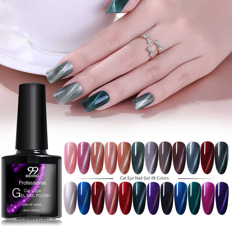 Mshing99 3D Cat Eye Gel Nail Polish vernis semi permanen UV Kuku Seni Untuk Manikur kuku gel primer Top coat Gel Varnish