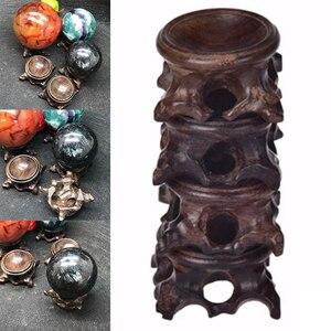 Carrinho de Exposição de madeira Base De Cristal Bola Esfera de Pedra Globo Decoração Artesanato Figurinhas Miniaturas Bola de Cristal Titular Bracket