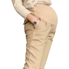 ФОТО cotton pregnant pants elastic waist trousers for pregnant women fashion maternity pants ropa maternidad mujer maternity clothing